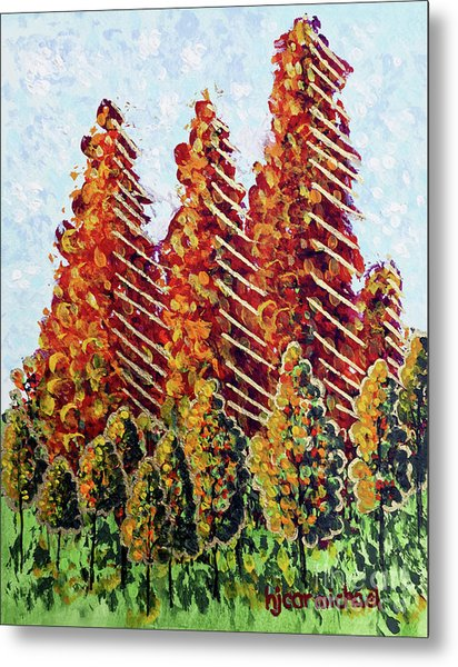 Autumn Christmas Metal Print