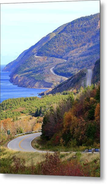 Autumn Color On The Cabot Trail, Cape Breton, Canada Metal Print