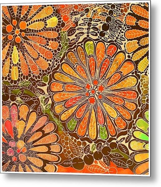 Autumn  Colors Mandalas  Metal Print