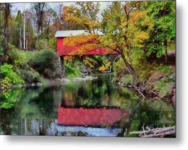 Autumn Colors Over Slaughterhouse. Metal Print