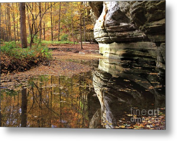 Autumn Comes To Illinois Canyon  Metal Print
