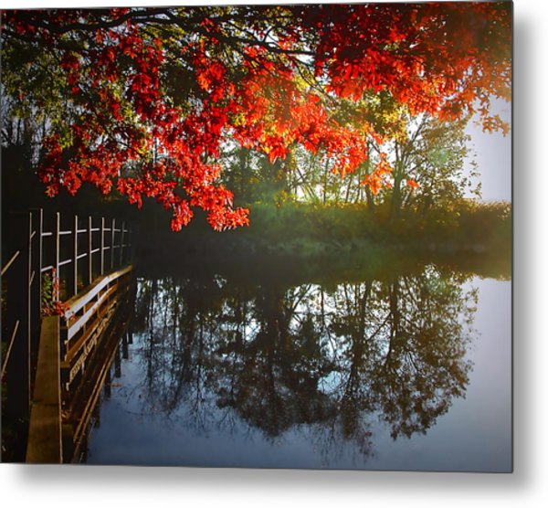 Autumn Creek Magic Metal Print