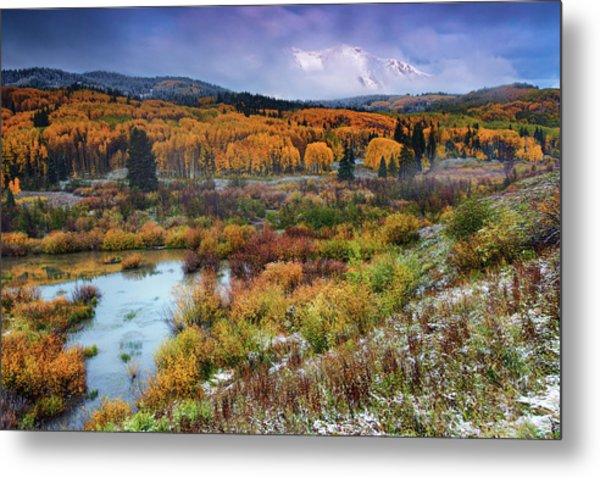 Autumn Dusting Metal Print