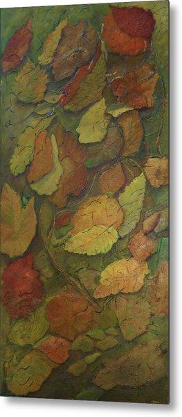 Autumn Falling Metal Print