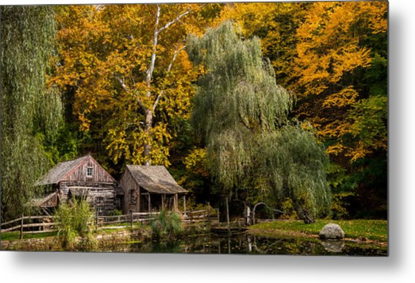 Autumn Farm Metal Print