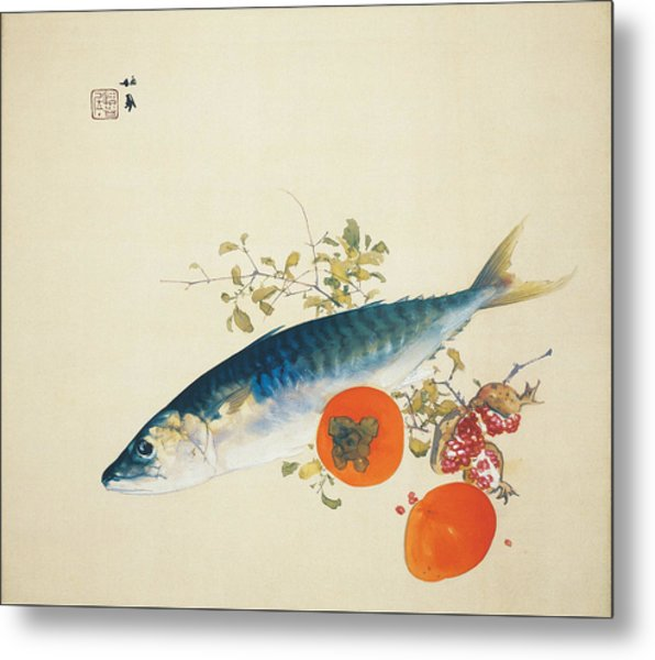 Autumn Fattens Fish And Ripens Wild Fruits  Metal Print