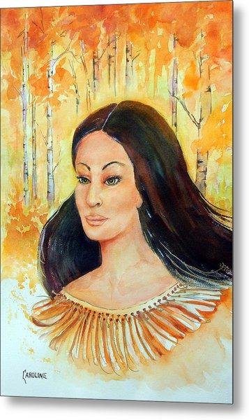 Autumn Goddess Metal Print