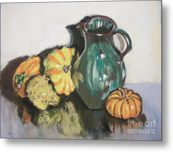 Autumn Gourds Metal Print by Mary Capriole