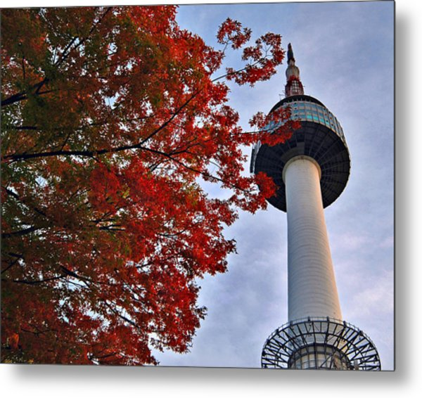 Autumn In Seoul Metal Print