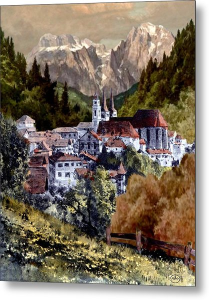 Autumn In The Alps Metal Print