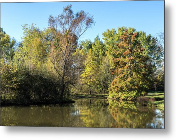 Autumn In The Park. Metal Print