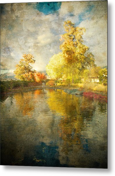 Autumn In The Pond Metal Print