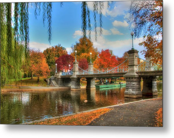 Autumn In The Public Garden - Boston Metal Print
