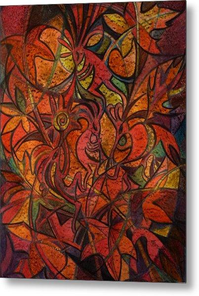 Autumn Kokopelli Metal Print