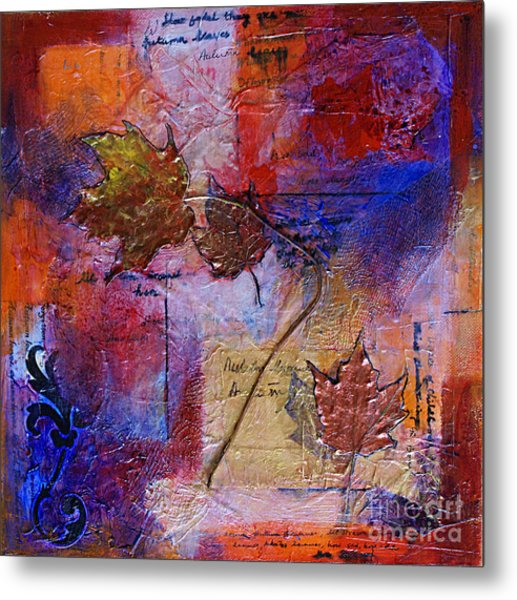 Autumn Leaves Metal Print by Ishita Bandyo