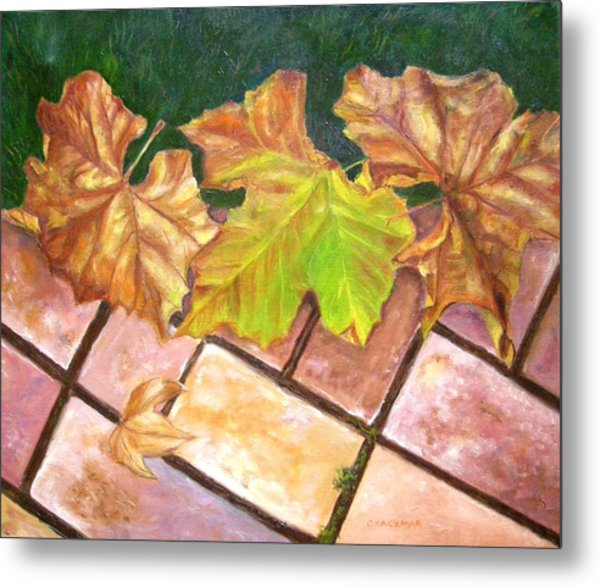Autumn Leaves Metal Print by Olga Kaczmar