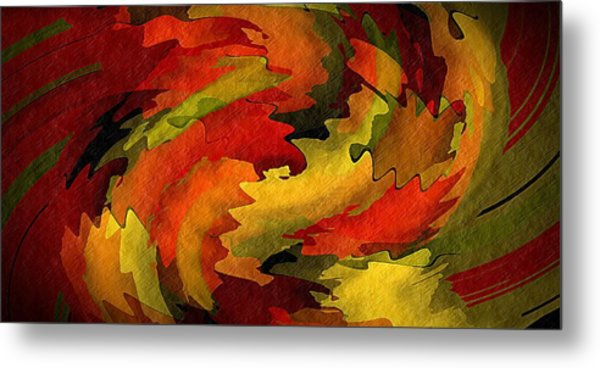 Autumn Leaves Metal Print by Terry Mulligan