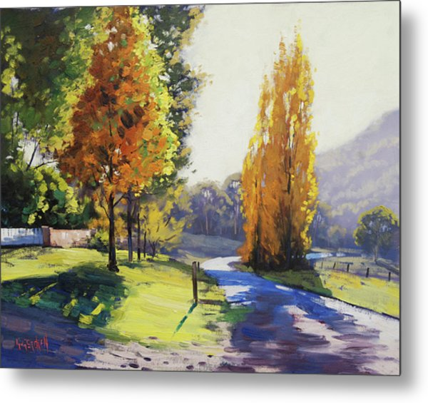 Autumn Light Tarana Metal Print
