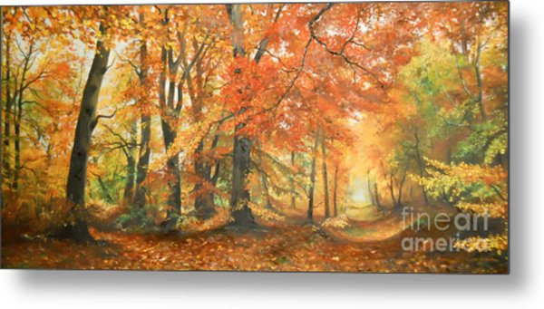 Autumn Mirage Metal Print