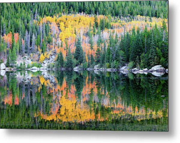 Autumn Mirror At Bear Lake Metal Print