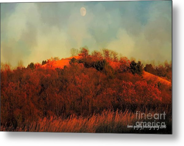 Autumn Moonrise Metal Print