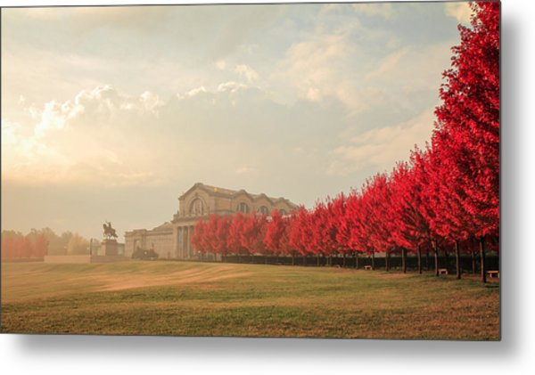 Autumn On Art Hill Metal Print
