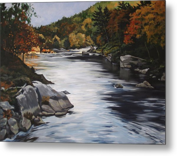 Autumn On The Allegheny Metal Print