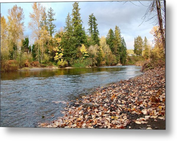 Autumn On The Molalla Metal Print