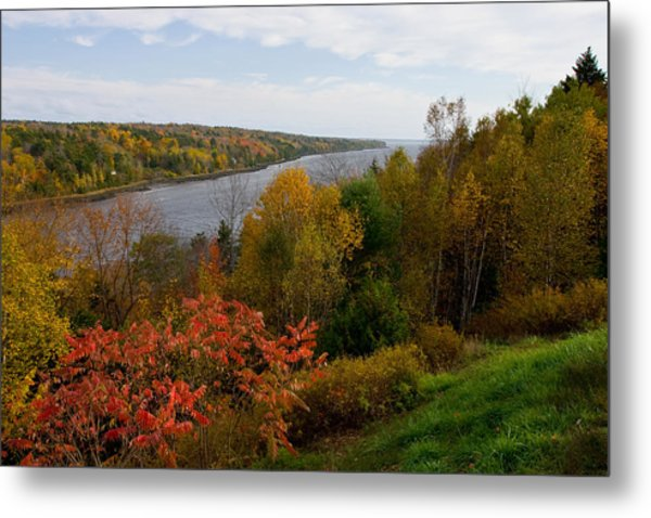 Autumn On The Penobscot Metal Print