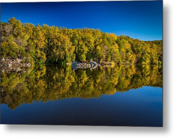 Autumn On The Potomac Metal Print by Robert Davis