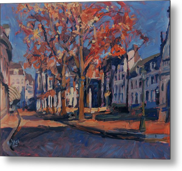 Autumn On The Square Of Our Lady Maastricht Metal Print