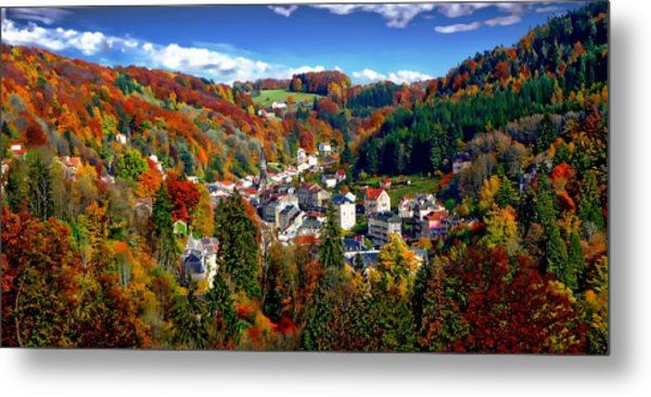 Autumn Panorama Metal Print