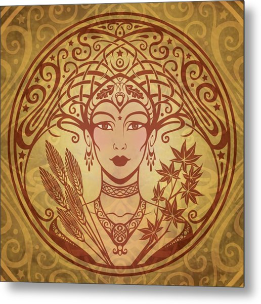 Autumn Queen Metal Print by Cristina McAllister
