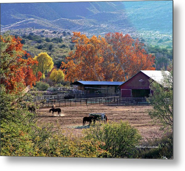 Autumn Ranch Metal Print