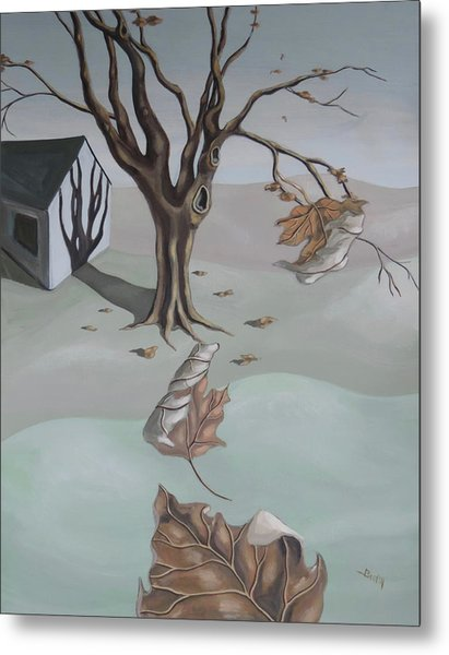 Metal Print featuring the painting Autumn Remnants by Sally Banfill