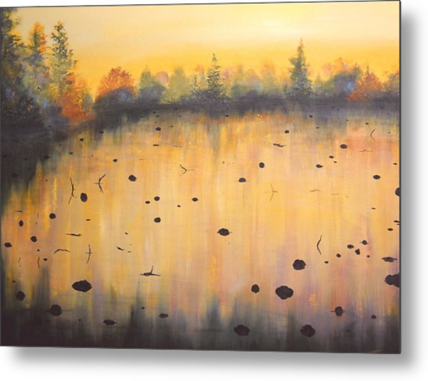 Autumn River Fog IIi Metal Print by Connie Tom