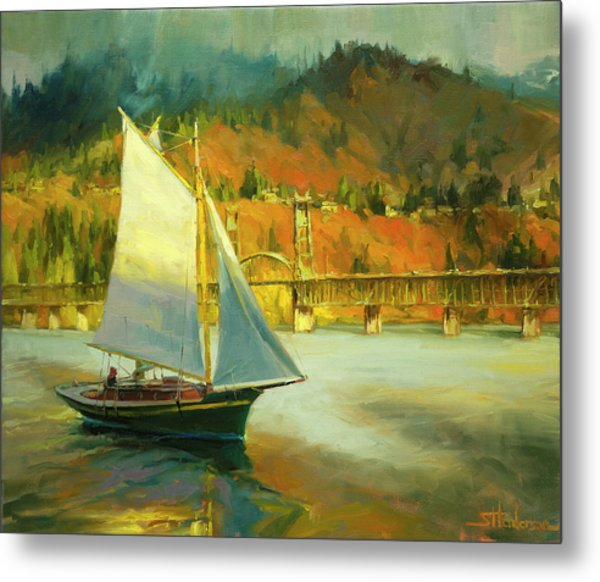 Autumn Sail Metal Print