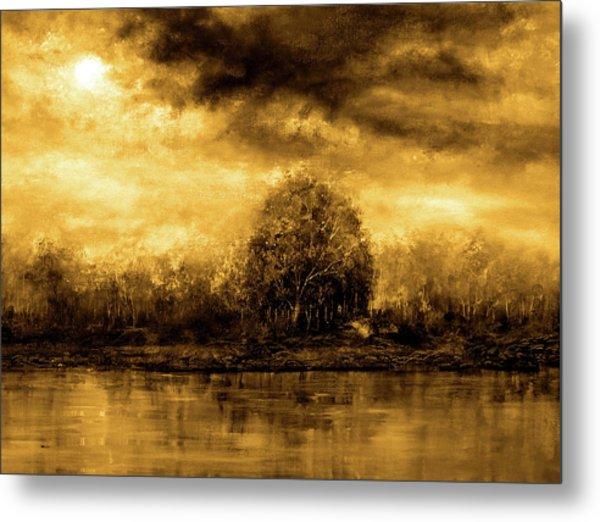 Autumn Skies Metal Print by Ann Marie Bone
