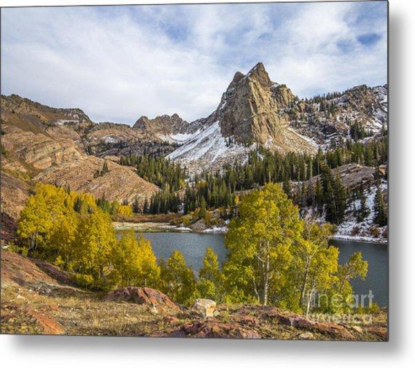 Autumn Snow At Lake Blanche Metal Print