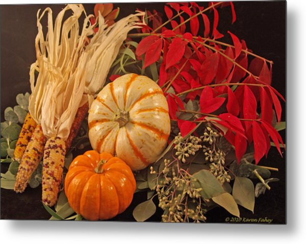 Autumn Still Life Metal Print by Karen Fahey