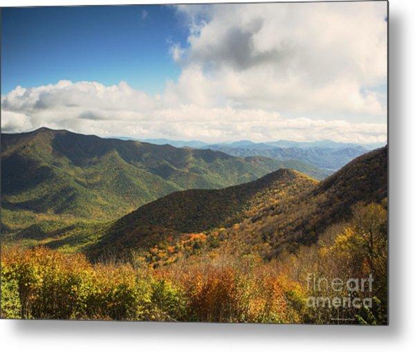 Autumn Storm Clouds Blue Ridge Parkway Metal Print
