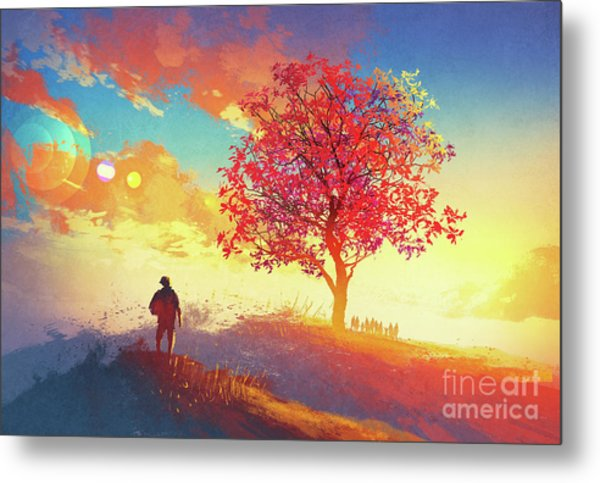 Autumn Sunrise Metal Print