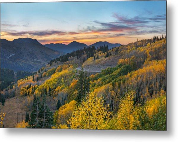 Autumn Sunset At Guardsman Pass, Utah Metal Print