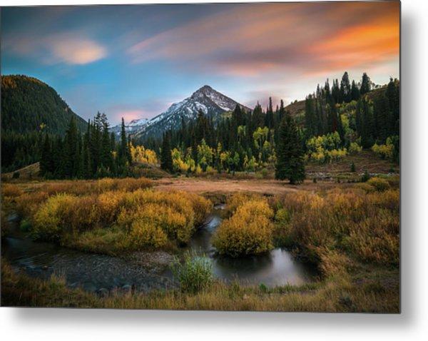Autumn Sunset In Big Cottonwood Canyon Metal Print