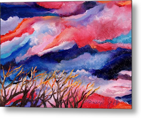 Autumn Sunset In The Sky Metal Print