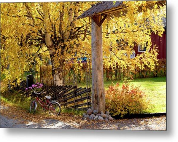 Rural Rustic Autumn Metal Print