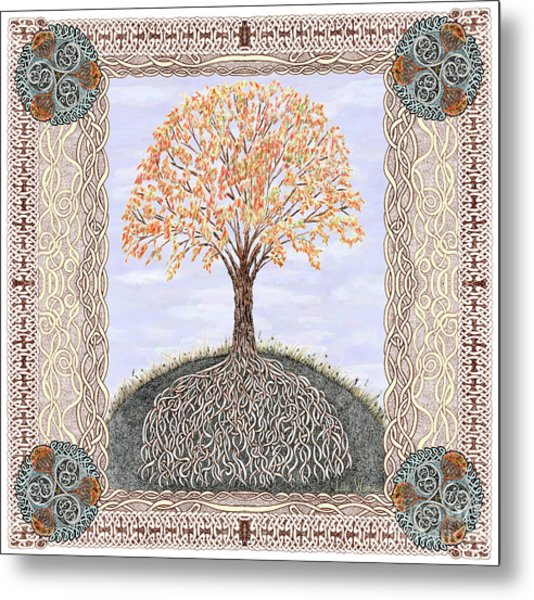 Autumn Tree Of Life Metal Print