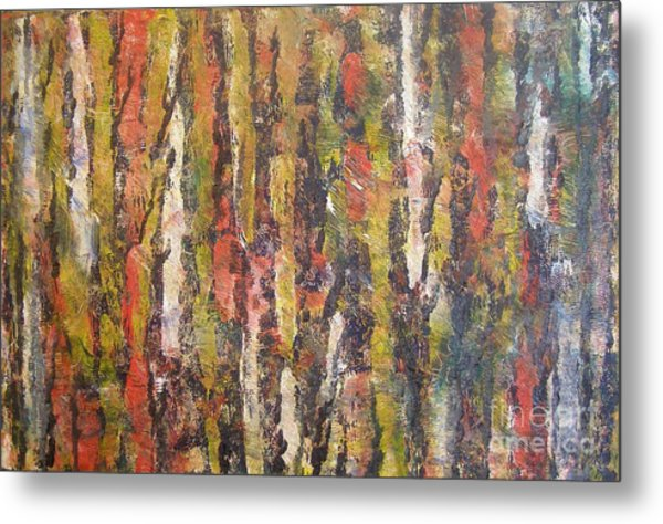 Autumn Trees Metal Print by Don Phillips