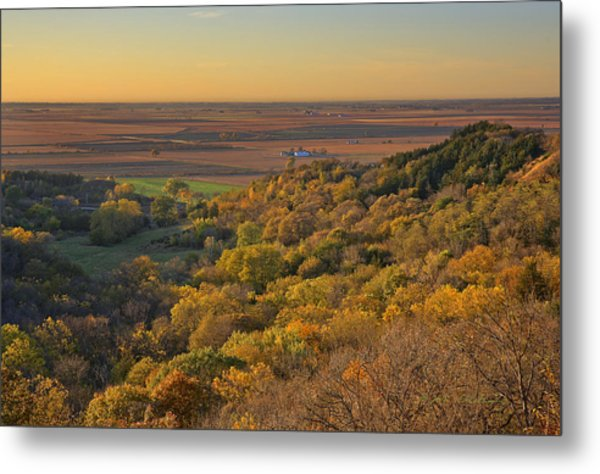 Autumn View At Waubonsie State Park Metal Print