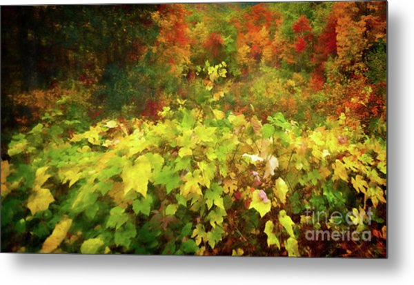 Autumn Watercolor Metal Print